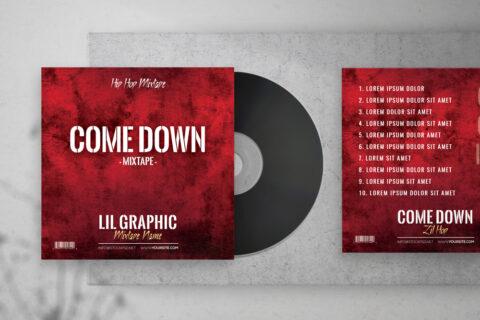 Come Down Mixtape Free PSD Mixtape Artwork