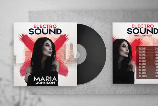 Electro Sound Free CD Artwork PSD Template