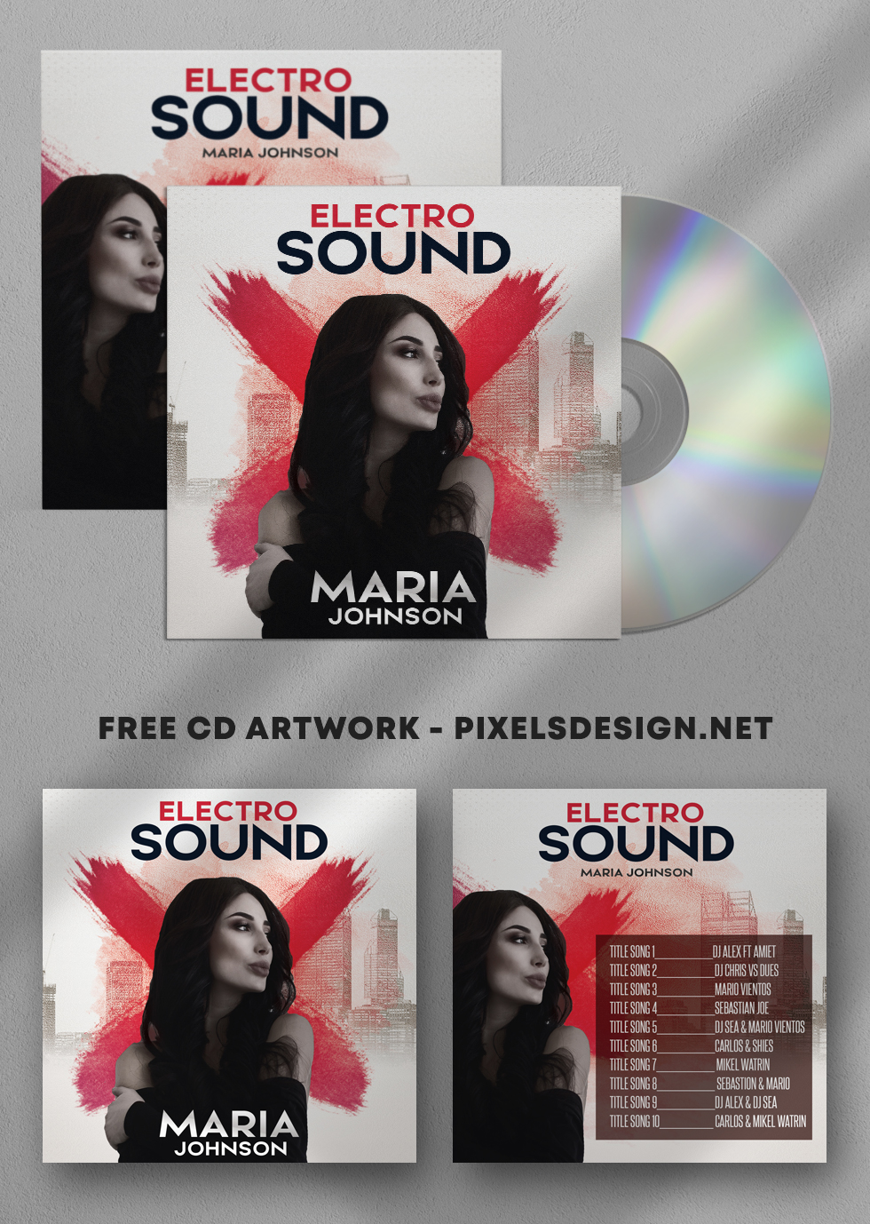 Electro Sound Free CD Artwork PSD Template