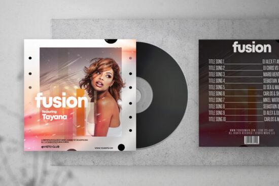 Fusion - Music Free Mixtape PSD Cover Artwork