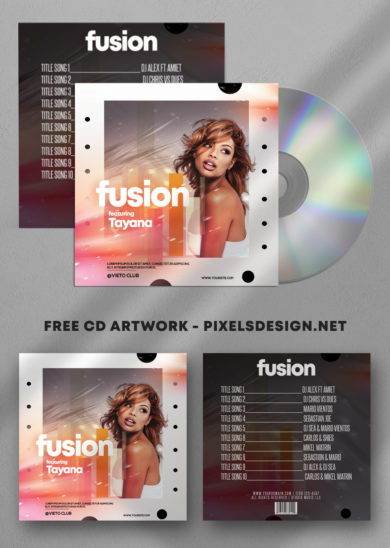 Fusion - Music Free Mixtape PSD Cover Artwork