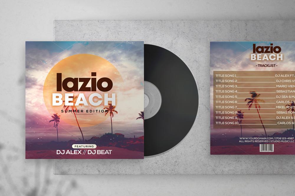 Lazio Beach Free CD Artwork PSD Template