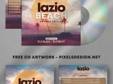 Lazio Beach Free CD Artwork PSD Template