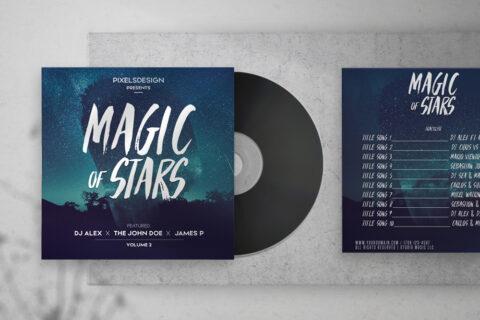 Magic of Stars Free CD Artwork PSD Template