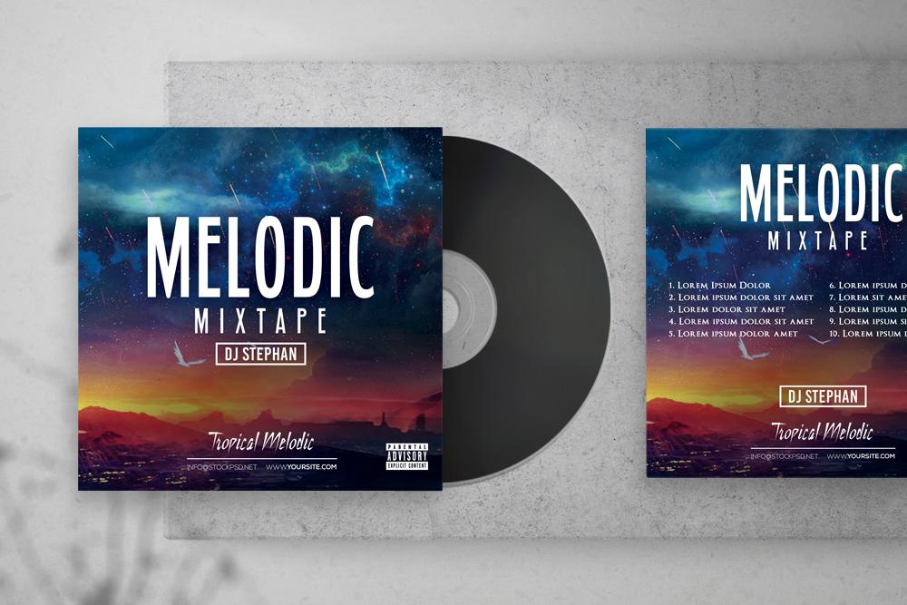 Melodic Mixtape – Free PSD Cover Artwork