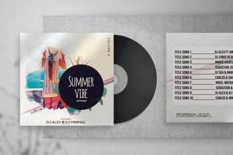 Summer Vibe Free Mixtape PSD Cover Artwork