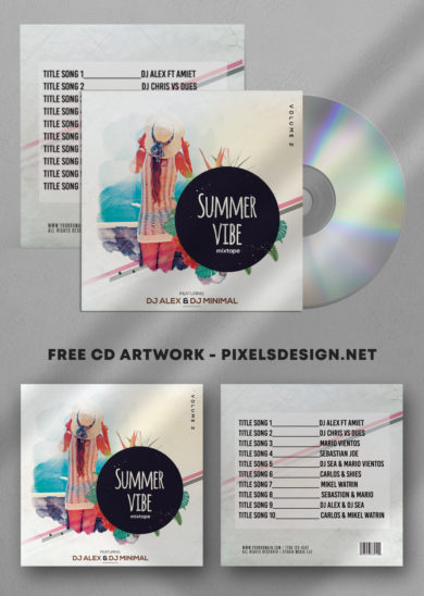 Summer Vibe Free Mixtape PSD Cover Artwork