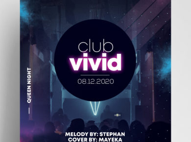 Club Vivid PSD Free Flyer Template vol2