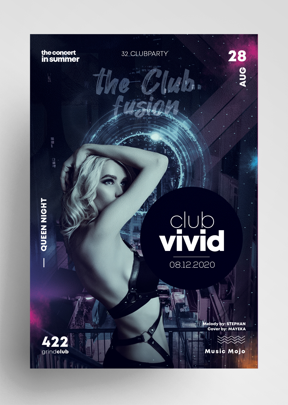 Club Vivid PSD Free Flyer Template vol1