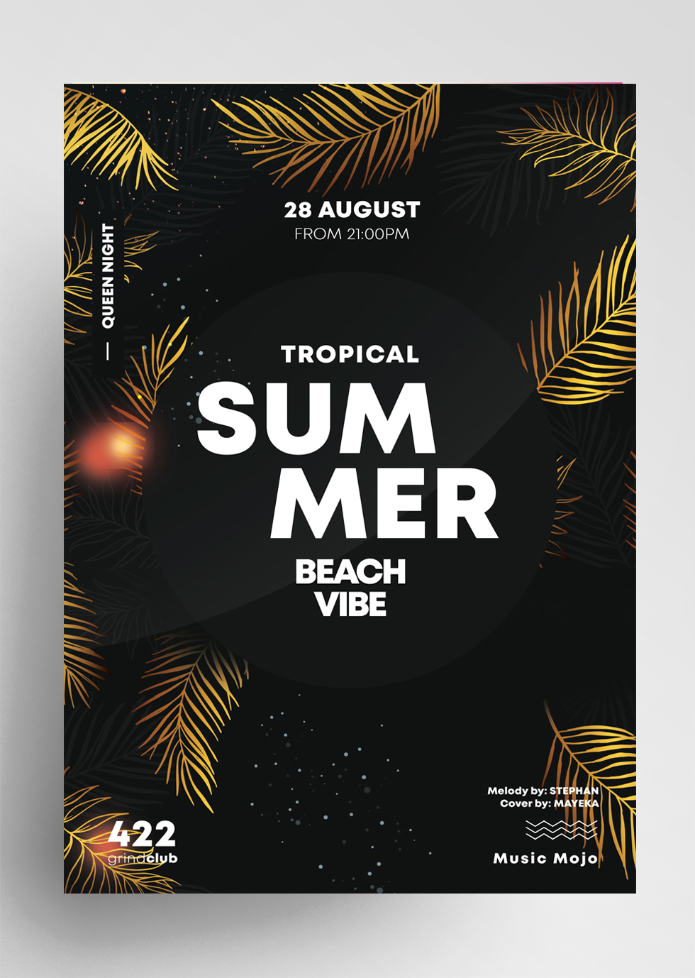 Summer Gold PSD Free Flyer Template