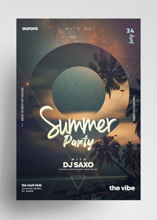 Summer Party ~ 2 PSD Flyer Templates