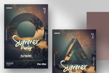 summer party psd flyer template v1