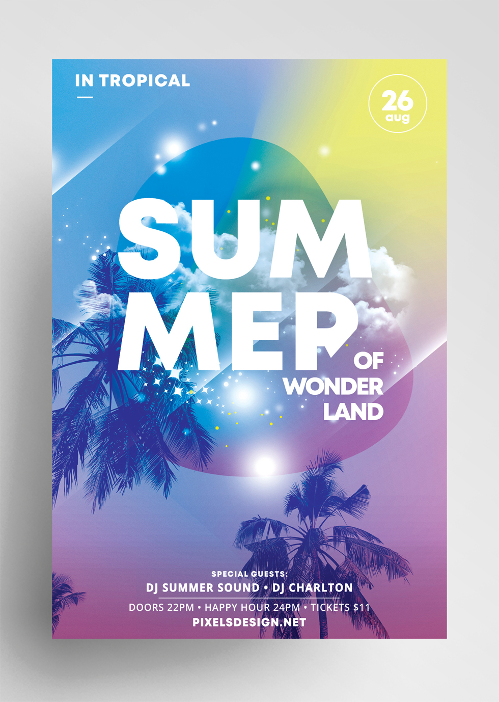 Summer Land Free PSD Flyer Template