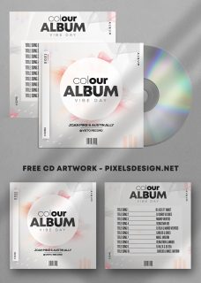 Colour Album Free Mixtape CD Album PSD Template