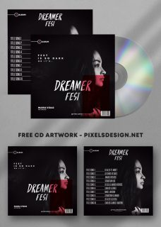 Dark Fest Album Free Mixtape CD Album PSD Template