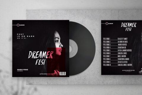 Dark Fest Album Free Mixtape CD Album PSD Template
