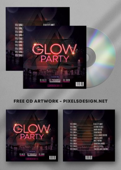 Glow Mix Free Mixtape Album PSD Template