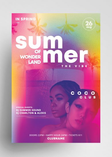 Summer Wonderland Free PSD Flyer Template