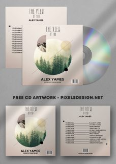 The View Album Free Mixtape CD Album PSD Template