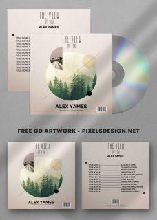 The View Album Free Mixtape CD Album PSD Template