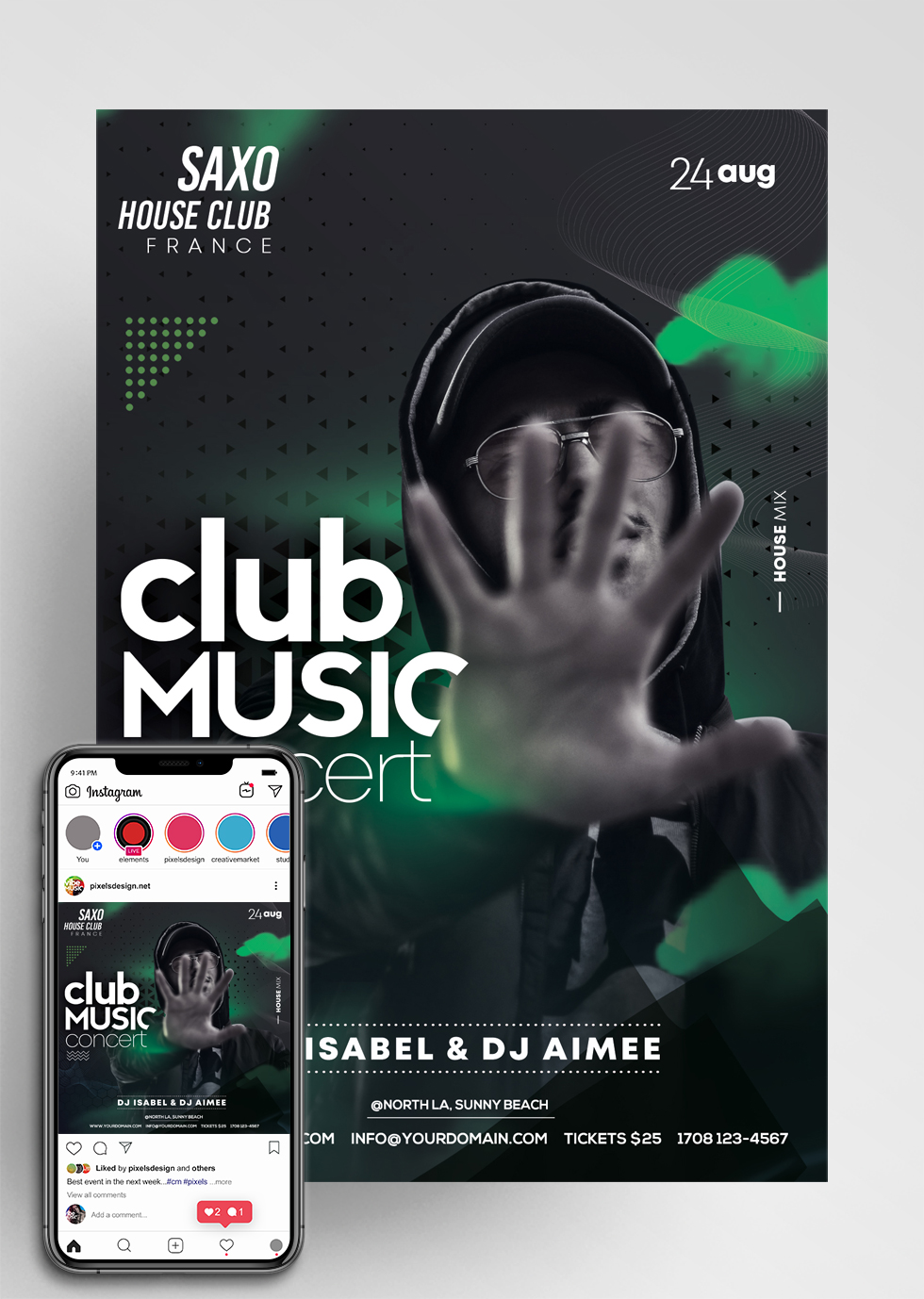 Artist Performance PSD Flyer Template