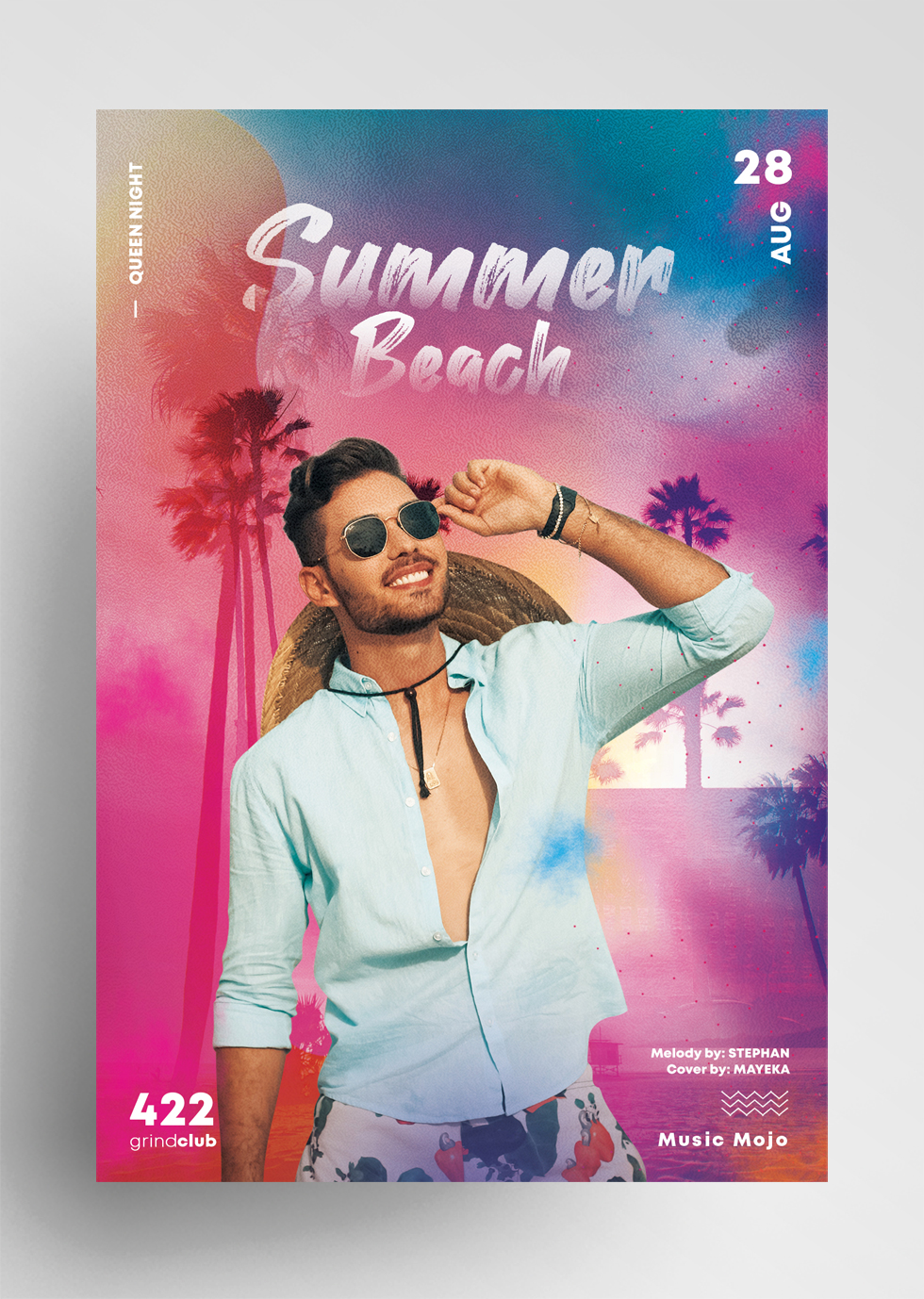 Summer Beach Event Free PSD Flyer Template