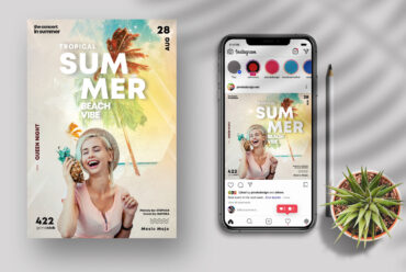 Summer Beach Party - Flyer & Insta Post (PSD)