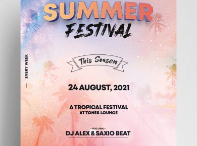 Summer Festival Free PSD Flyer Template