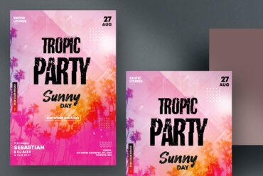 Tropic Party - Flyer Template + Insta Post