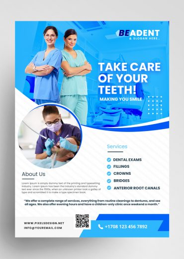 Dental Ad - 3 Flyer Templates (PSD)