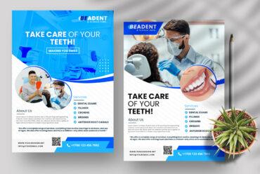 Dental Ad - 3 Flyer Templates (PSD)