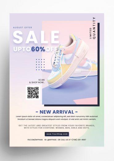 Shoes Sale - 5 PSD Flyer Templates