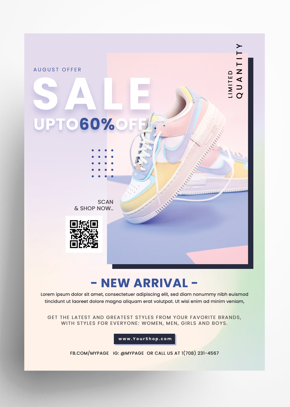 Shoes Sale - 5 PSD Flyer Templates