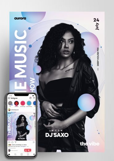 TheMusic Live Show PSD Flyer Template
