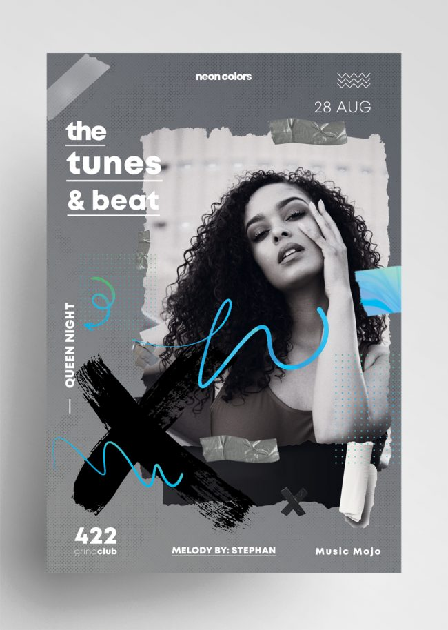 The Tunes & Beat Flyer PSD Templates