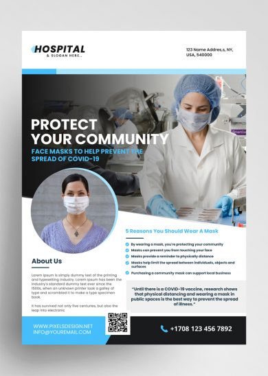 Wear a Mask Ad Free PSD Flyer Template