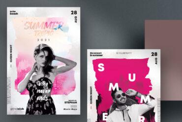 Club & Sound - 4 Flyer Set Templates (PSD)
