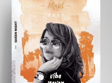 Club & Sound Vibe Free Flyer Template (PSD)
