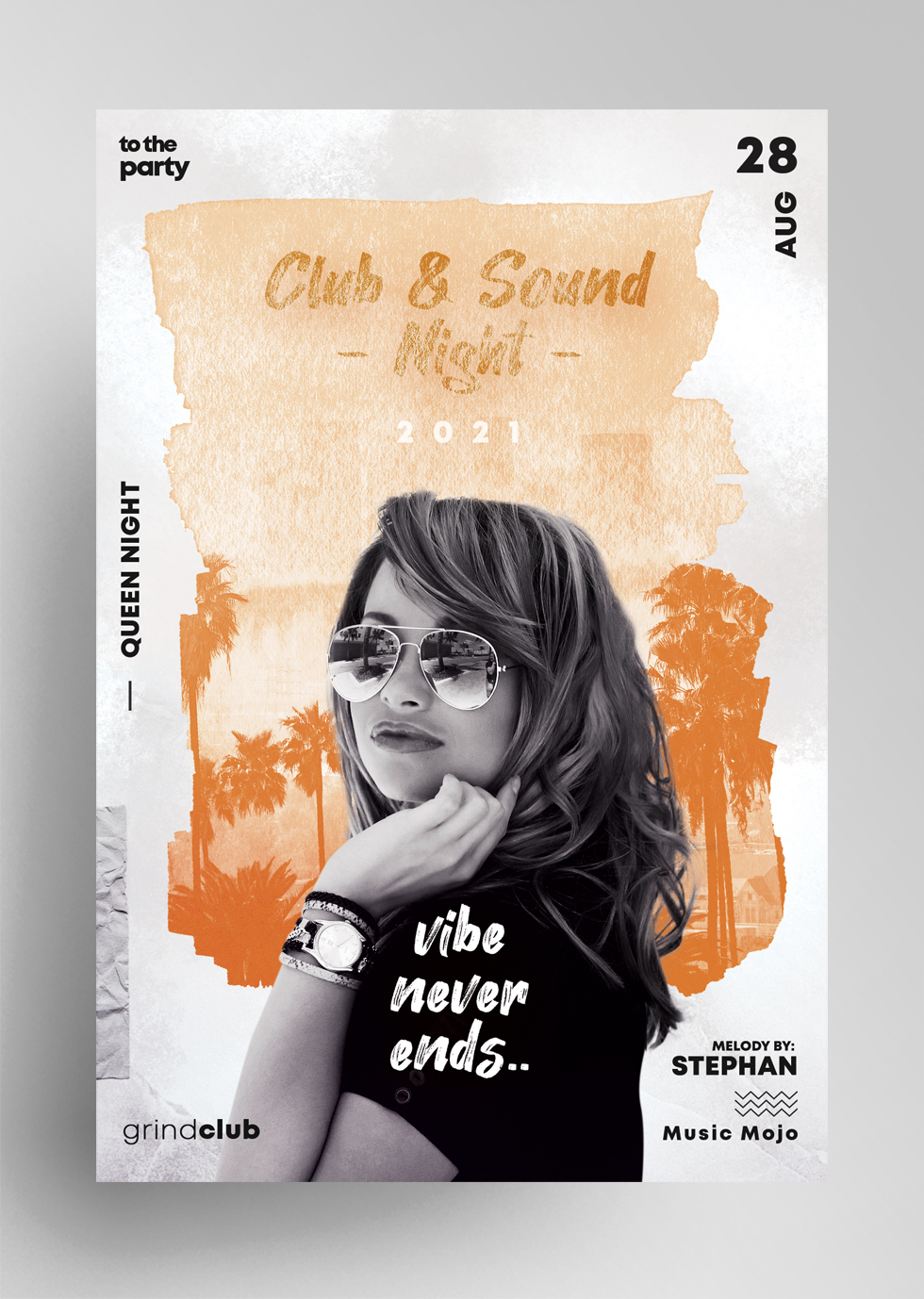 Club & Sound Vibe Free Flyer Template (PSD)