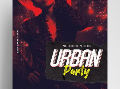 Urban Party DJ Free PSD Flyer Template