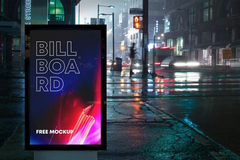 Free Billboard Advertising Mockup