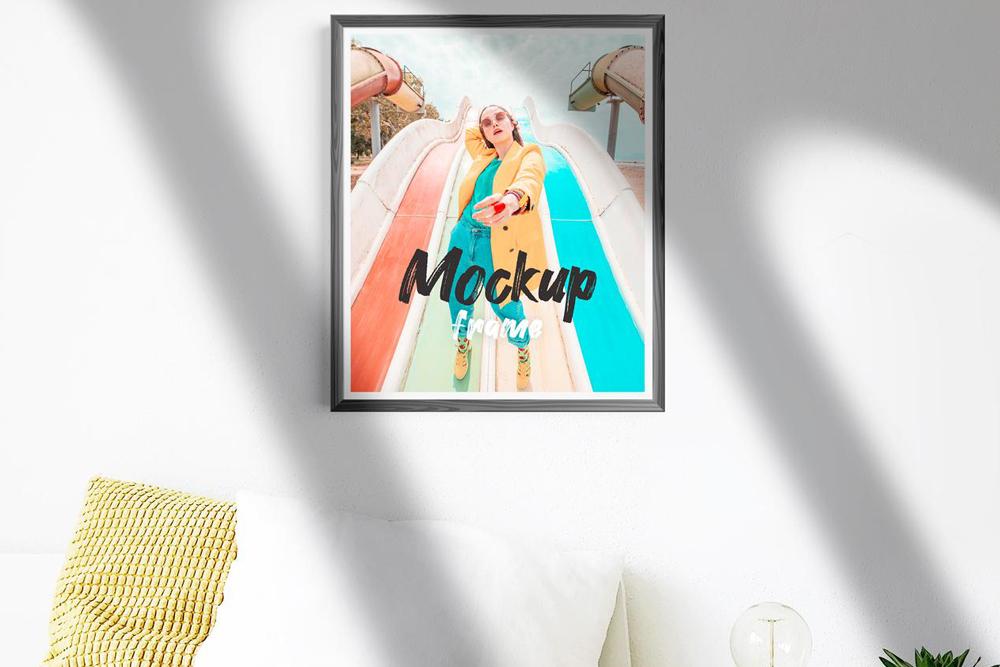 Free Frame in Room Mockup