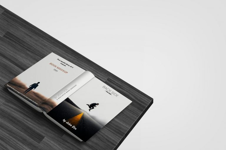 Free Opened Book Mockup (PSD)