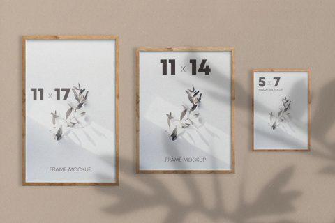 Free Poster Frames Mockup