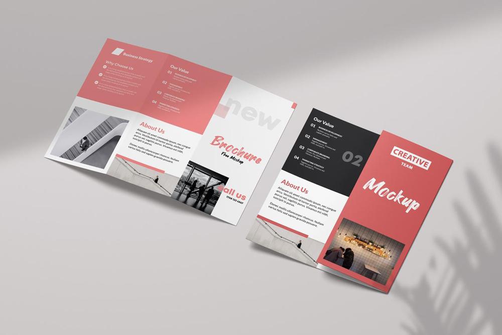 Free Tri-Fold Brochure Mockup vol2