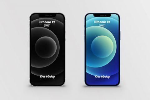 Free iPhone 12 Pro Mockup (2 Colors)