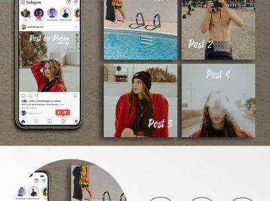 Free Instagram Posts & iPhone XS Max Mockup