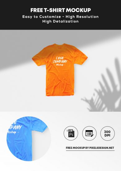 Free Simple T-Shirt Mockup (PSD)