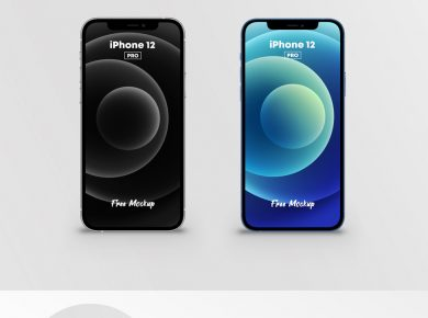 Free iPhone 12 Pro Mockup (2 Colors)