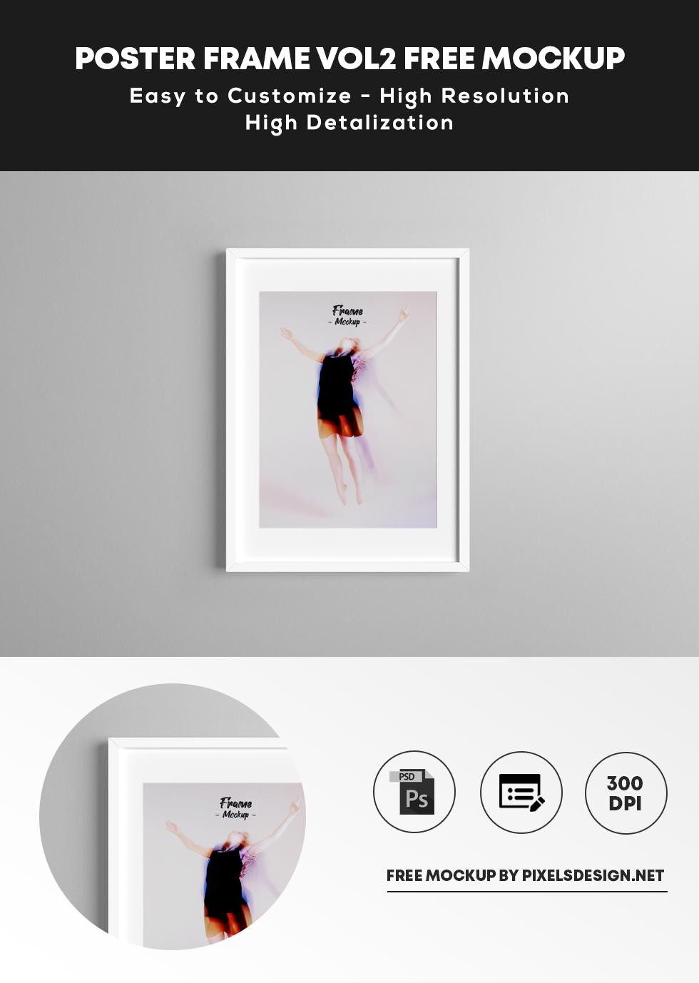 Free Poster Frame vol2 Mockup